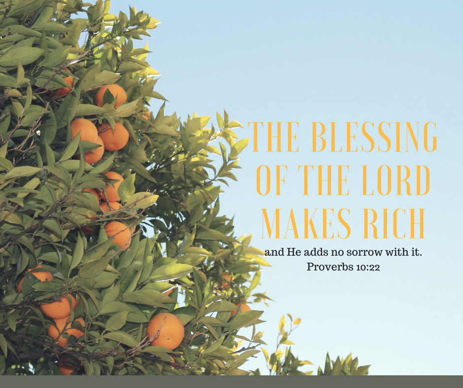 The Blessing of the Lord Makes Rich