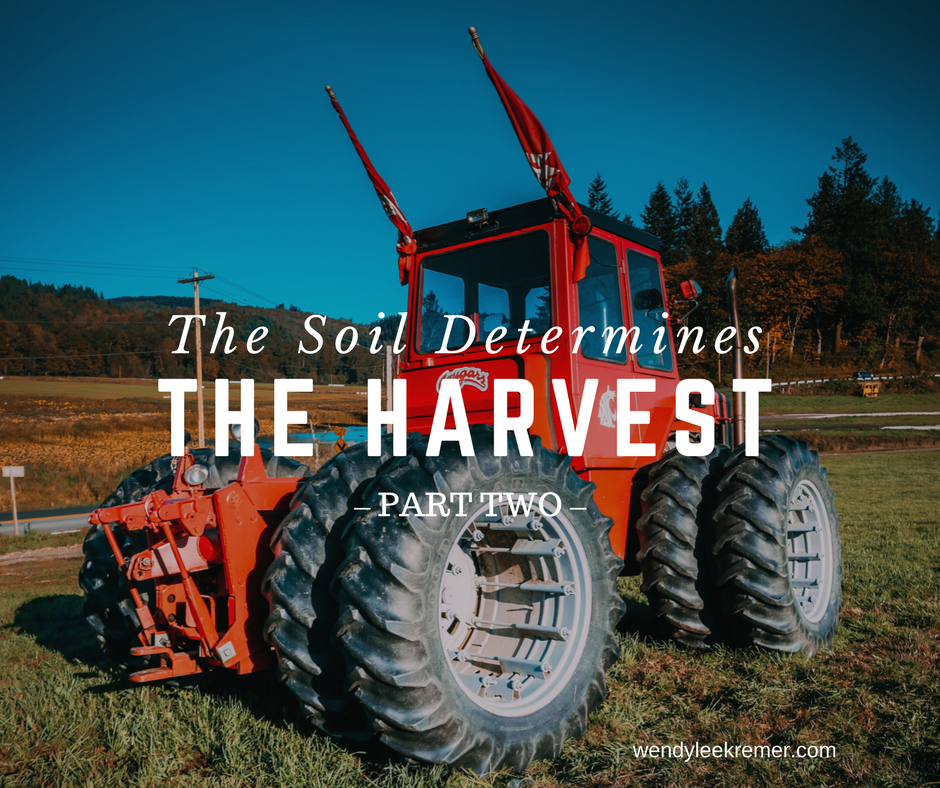 The Soil Determines the Harvest – Part Two