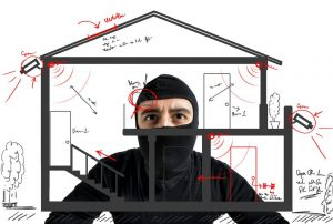 thief casing a house